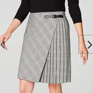 J. Jill Pleated Wrap Style Skirt